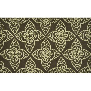Summerton Hand-Hooked Brown/Ivory Area Rug