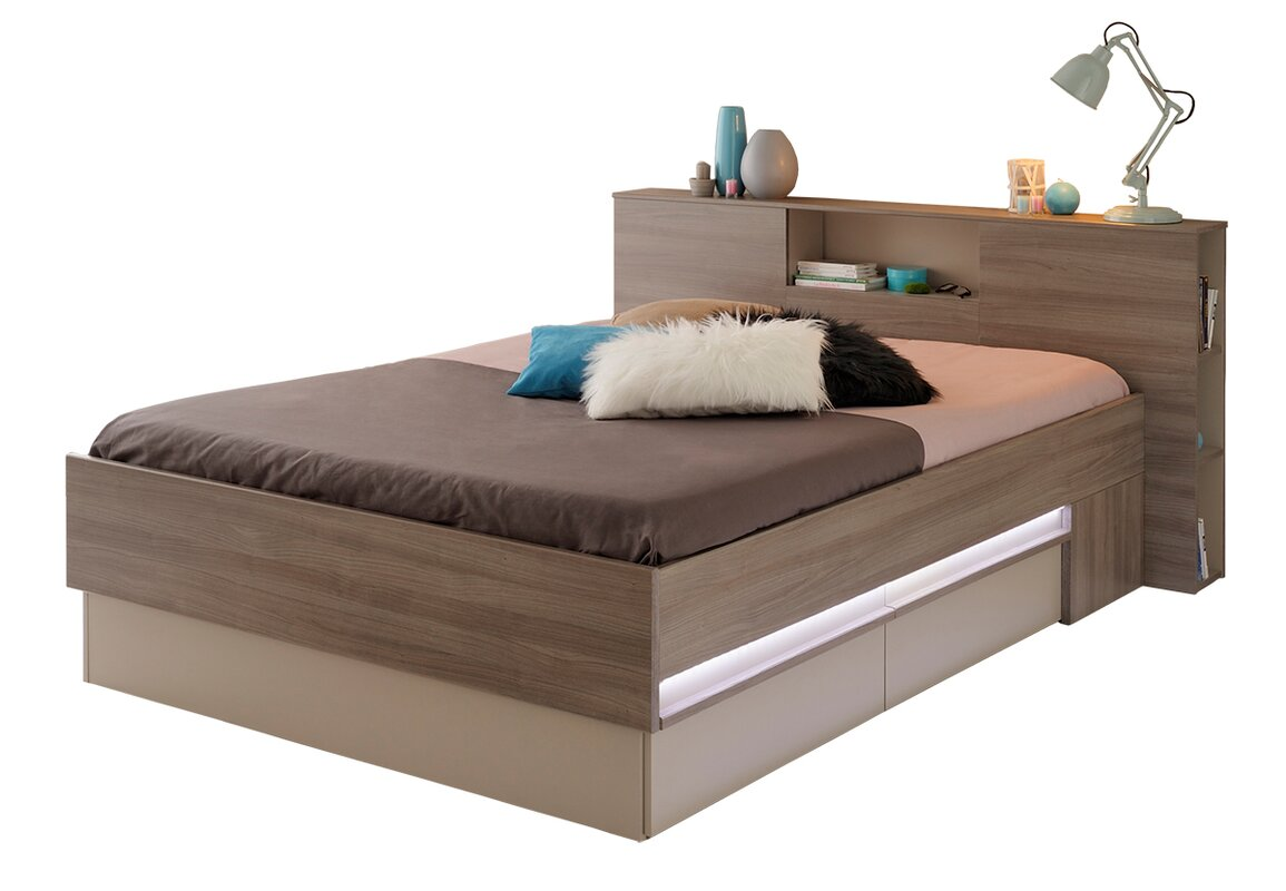 Satty Full Double Storage Platform Bed