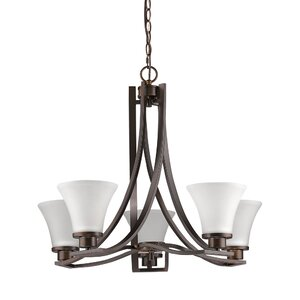 Mia 5-Light Shaded Chandelier