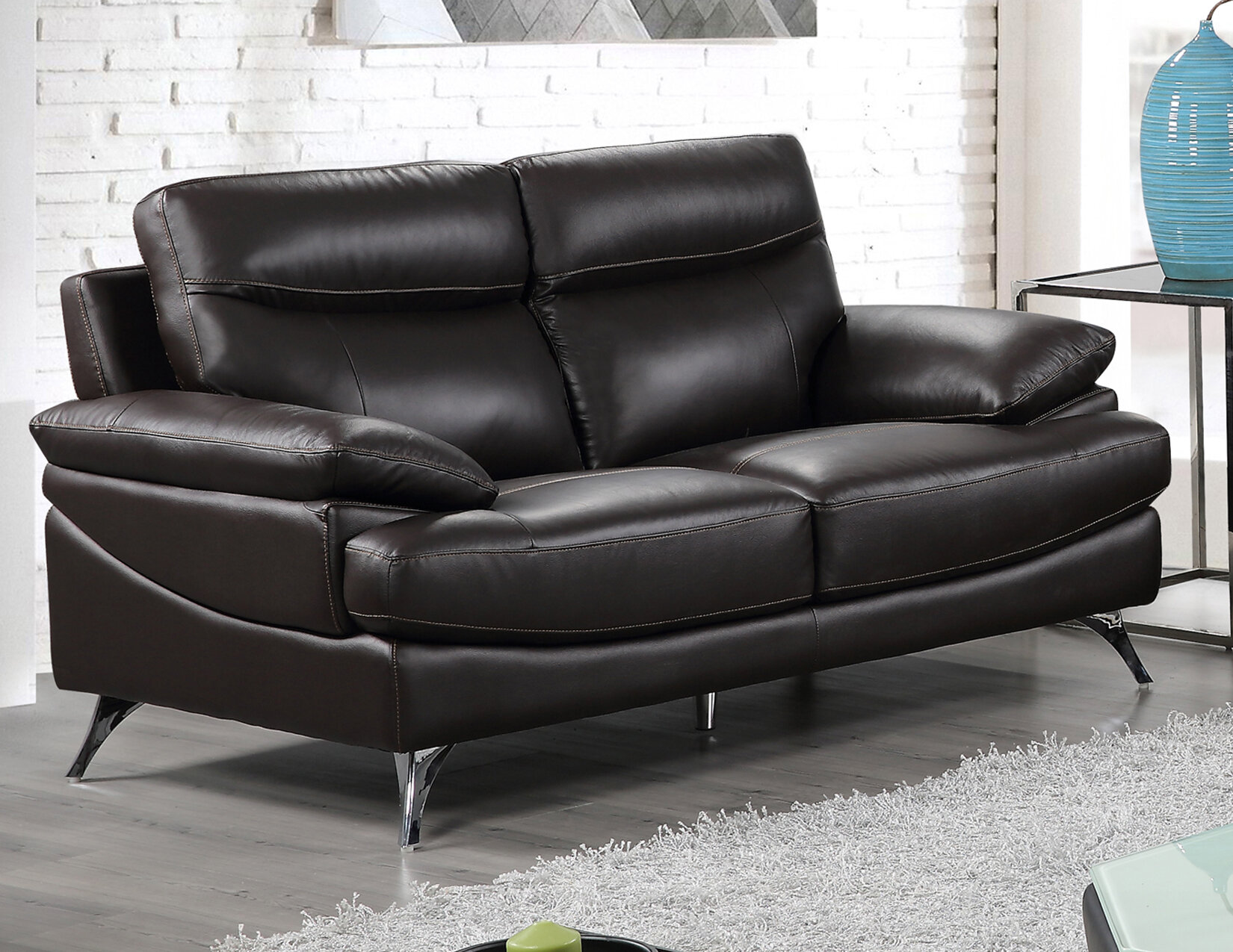 Best quality furniture leather loveseat wayfair