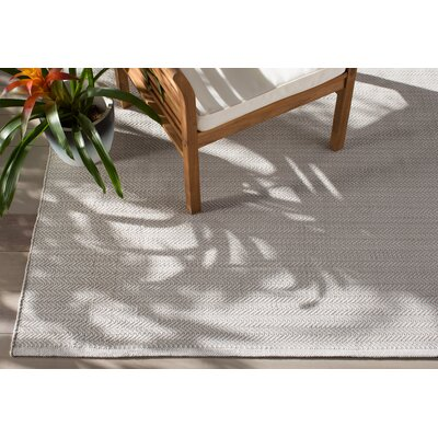 C3 Herringbone Pearl Grey Indoor/Outdoor Area Rug. By Dash And Albert Rugs