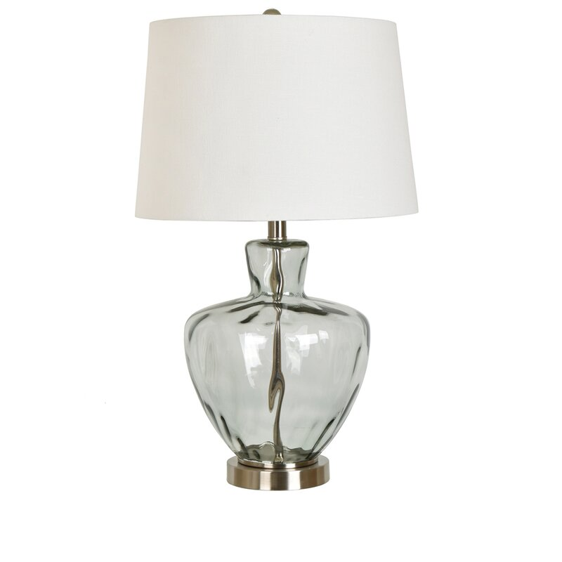 Skyla glass and metal 25 table lamp