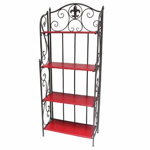 Fleur De Lis 4 Tier Standard Baker's Rack by De Leon Collections