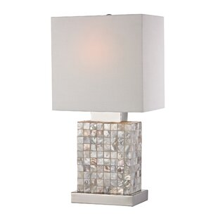 Mother of pearl lamp wayfair caulder mother of pearl mini 17 table lamp aloadofball Choice Image