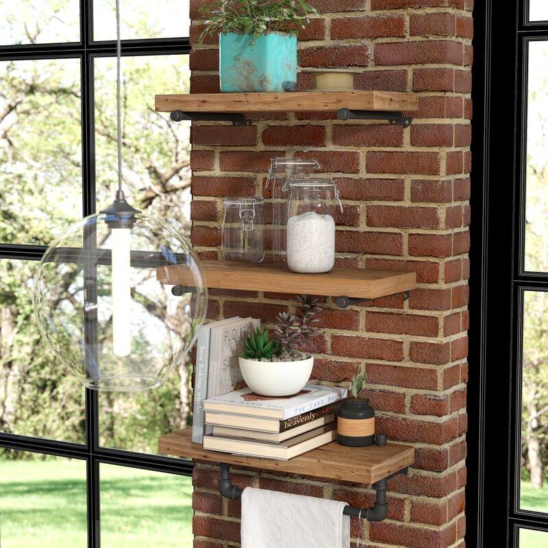 Borrero Industrial Pipe Accent Wall Shelf | Joss & Main