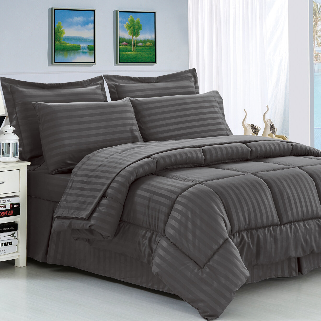 latest comforter pale reversible foot bedding sets blue piece face gwyneth set products waterford