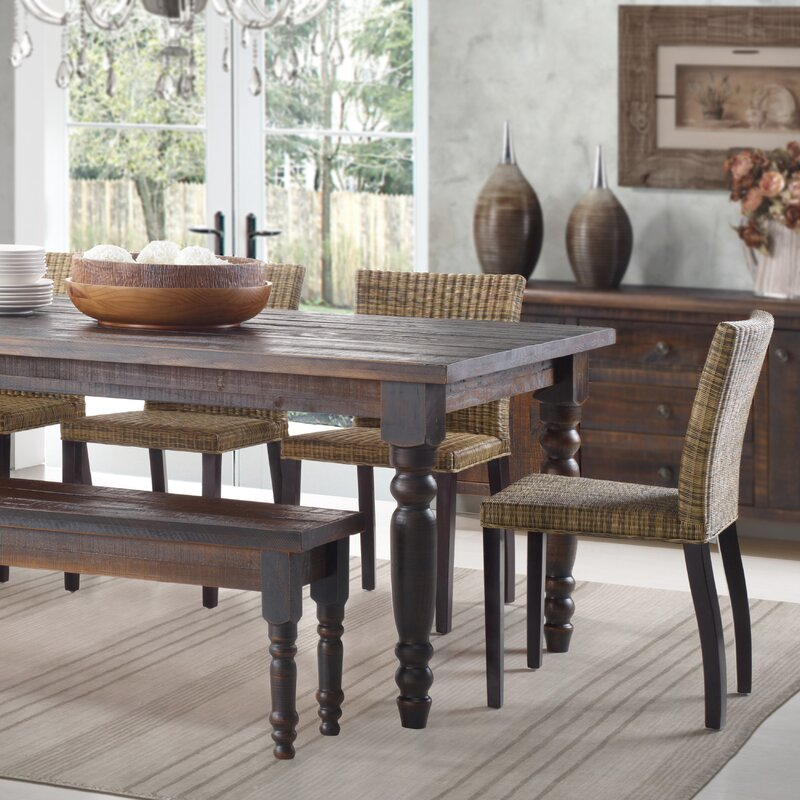 Dining Table grain wood furniture valerie dining table & reviews | wayfair
