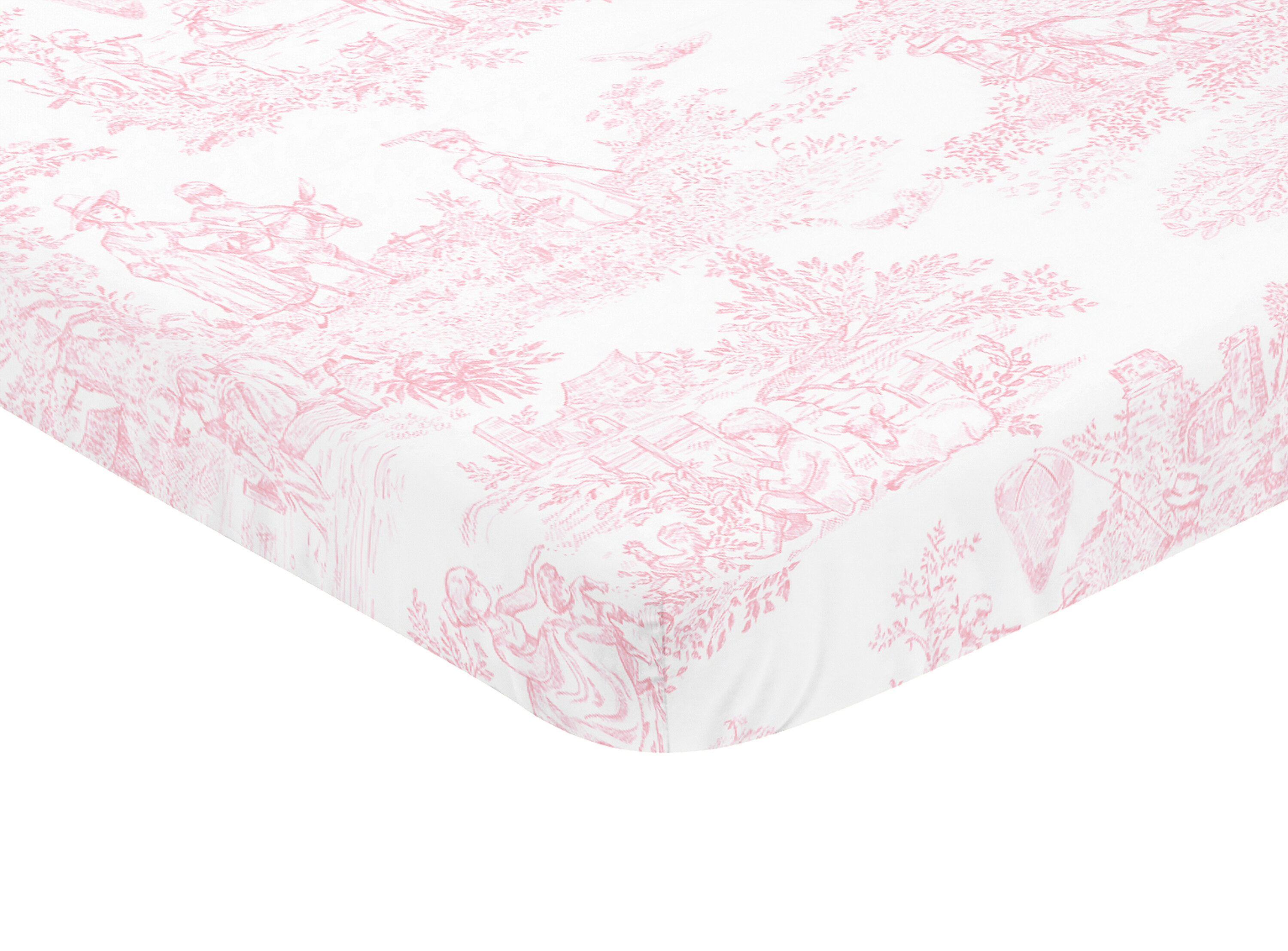 Sweet Jojo Designs French Toile Mini Fitted Crib Sheet Wayfair