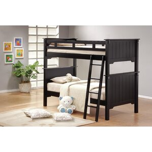 Shreya Twin Futon Wood Frame Bunk Bed Bedroom Set by Harriet Bee
