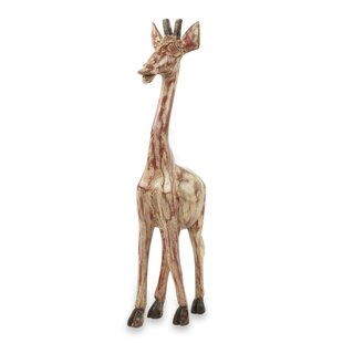 Youngquist Timeless Giraffe Wood Figurine