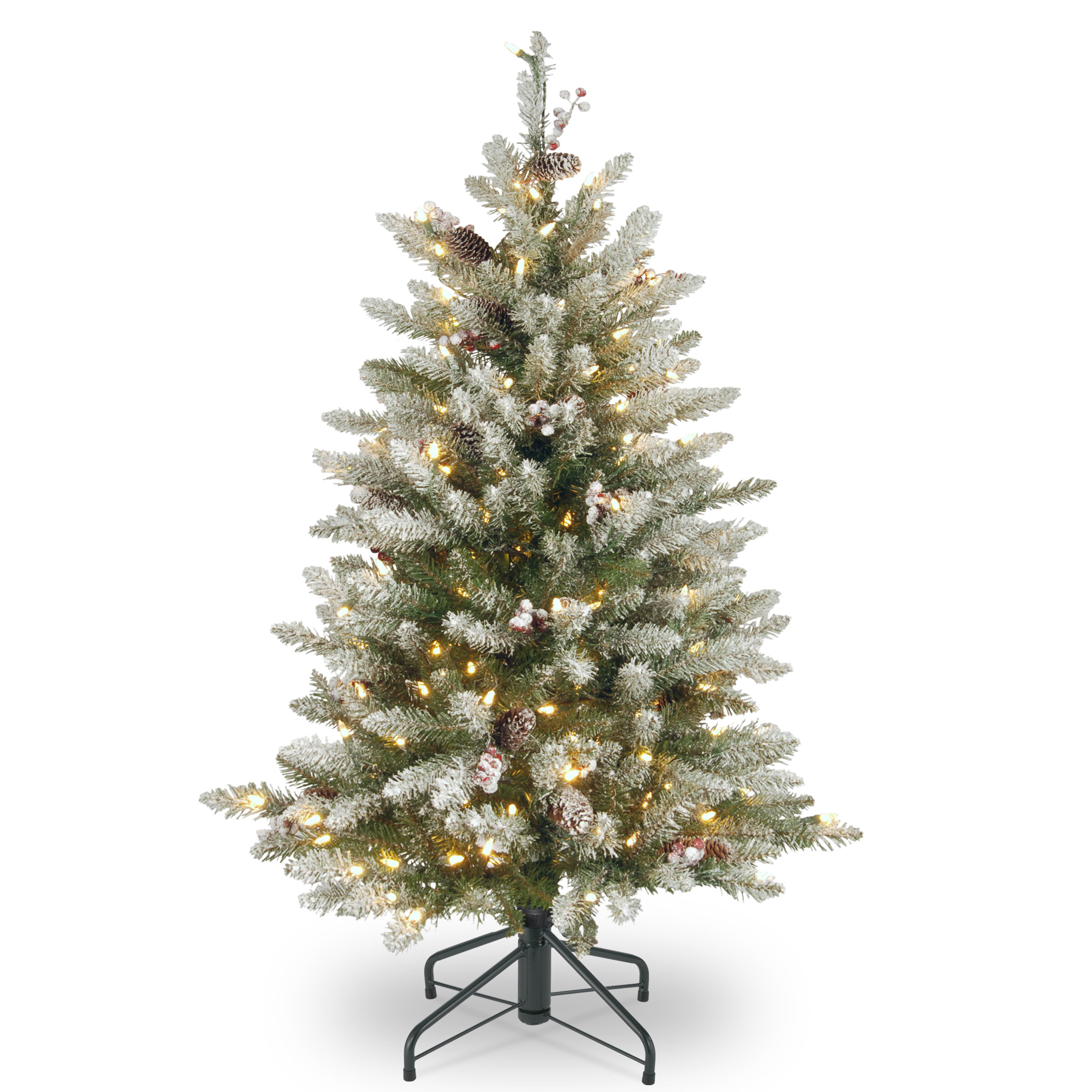 Gracie Oaks 4.5\' Frosted Green Fir Artificial Christmas Tree with ...