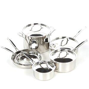 Cuisinart 10-Piece Stainless Steel Cookware Set