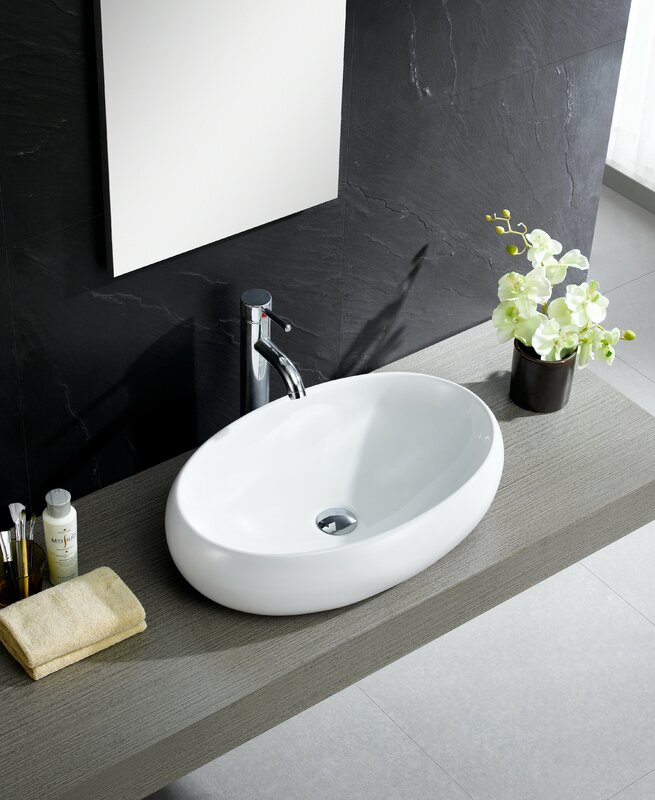 Fine Fixtures Modern Ceramic Oval Vessel Bathroom Sink Reviews