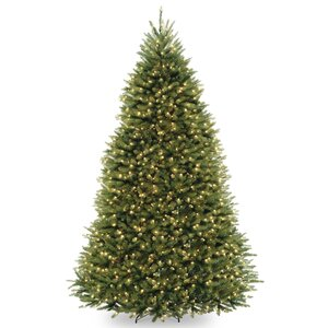 Fir 9' Hinged Tree with 900 Clear Lights
