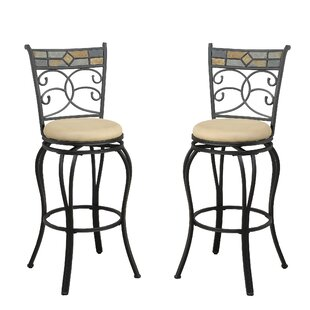 Bobkona Adney 29 Swivel Bar Stool (Set of 2)