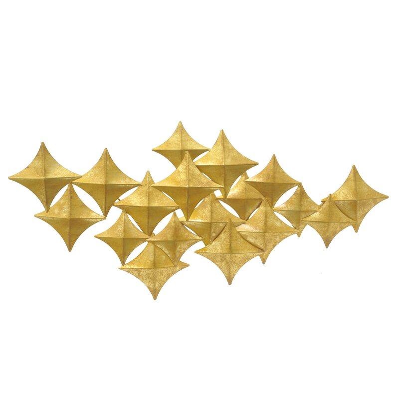 Three Hands Co. Diamond Metal Wall Décor & Reviews   Wayfair