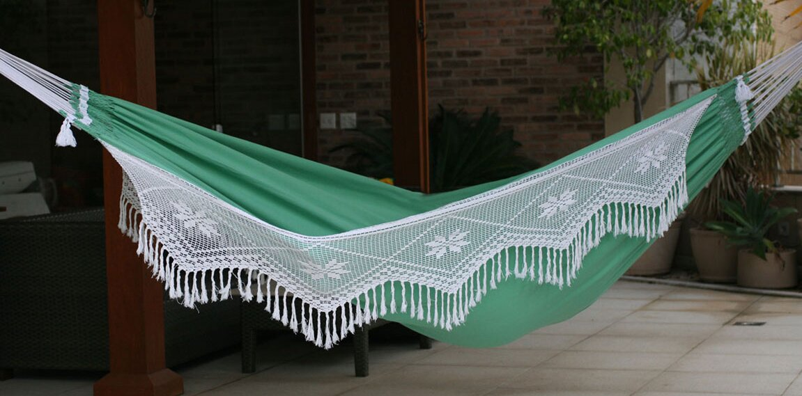 double person fair trade beautiful emerald hills u0027 hand woven brazilian cotton with crocheted trimming novica double person fair trade beautiful emerald hills u0027 hand      rh   wayfair