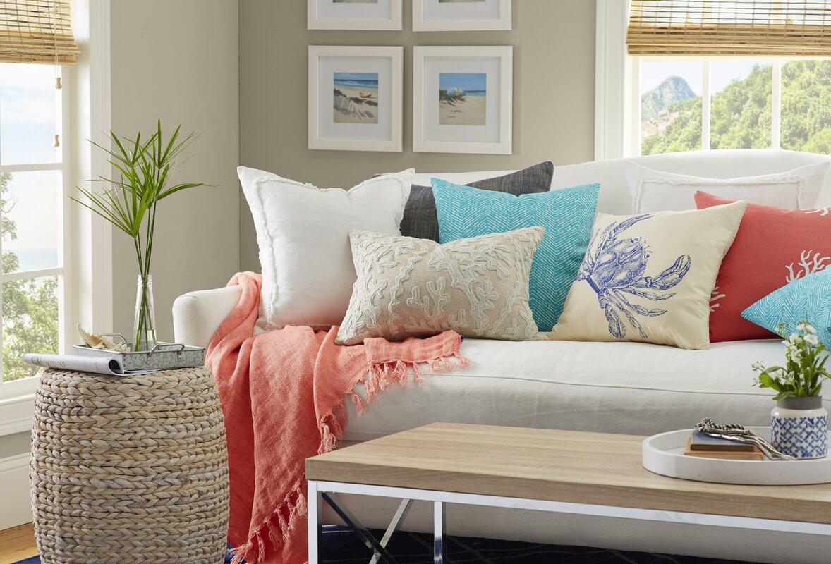 pleasurable designer sofa throws. Laundered Linen Throw Pine Cone Hill  Reviews Wayfair