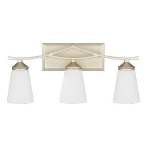 gold bathroom vanity lights. Lora 3 Light Vanity  Soft Gold Bathroom Lighting You ll Love Wayfair