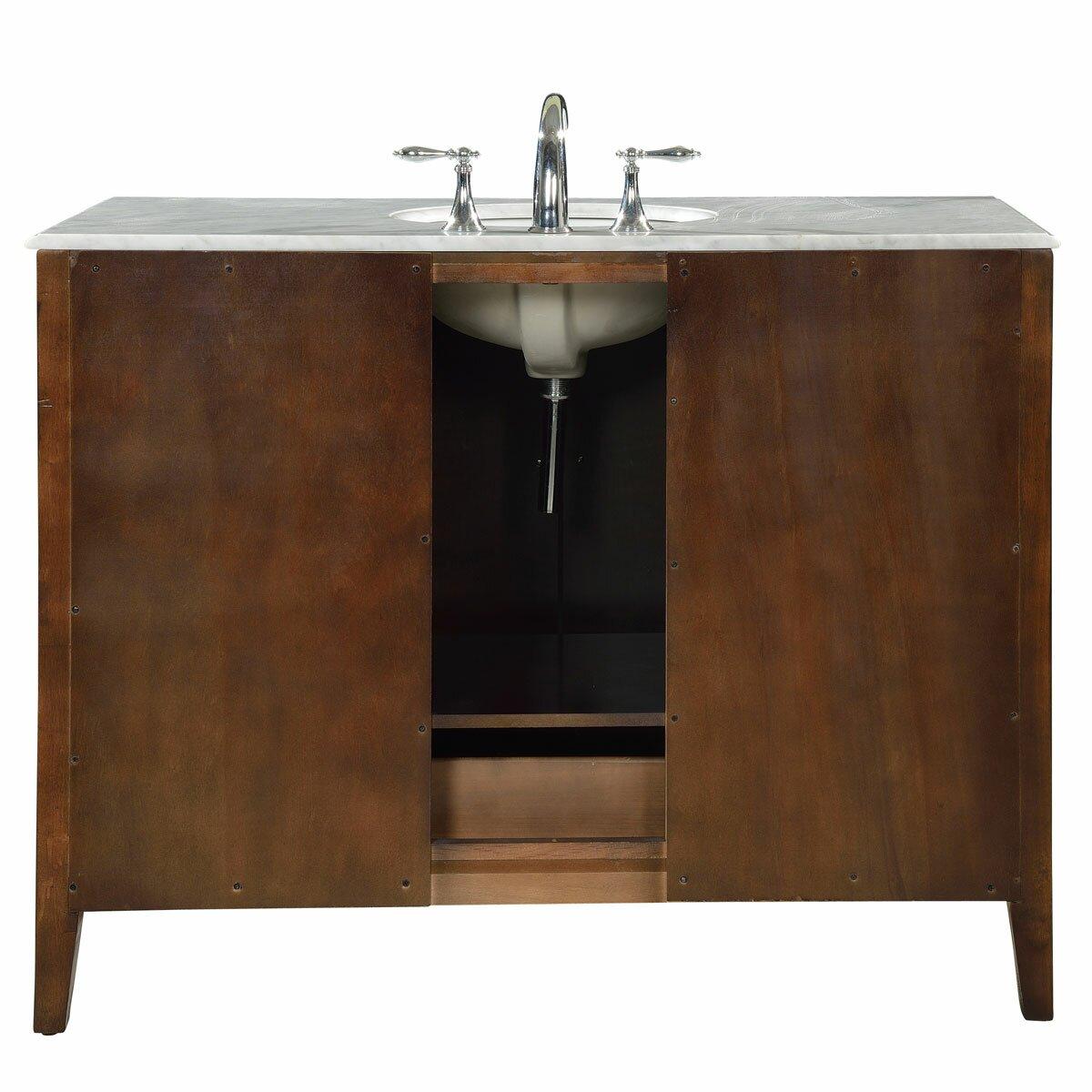 Silkroad Exclusive 48 Single Sink Cabinet Bathroom Vanity Set Reviews Wayfair Supply