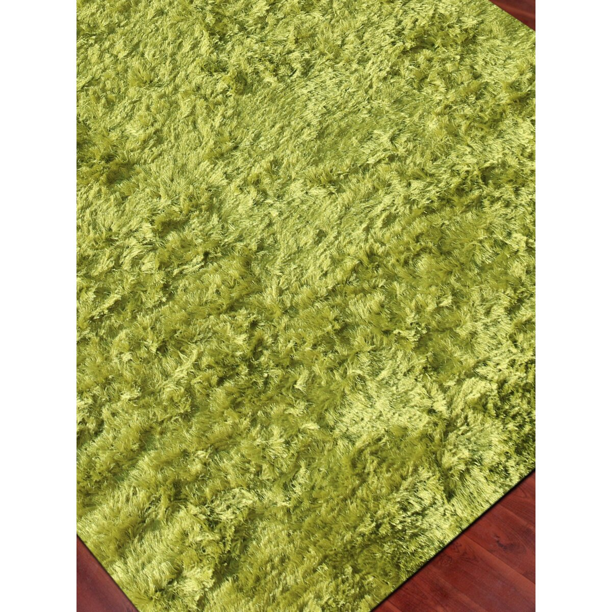 Lime Green Overdyed Rug: AMER Rugs Elements Neon Lime Green Area Rug & Reviews