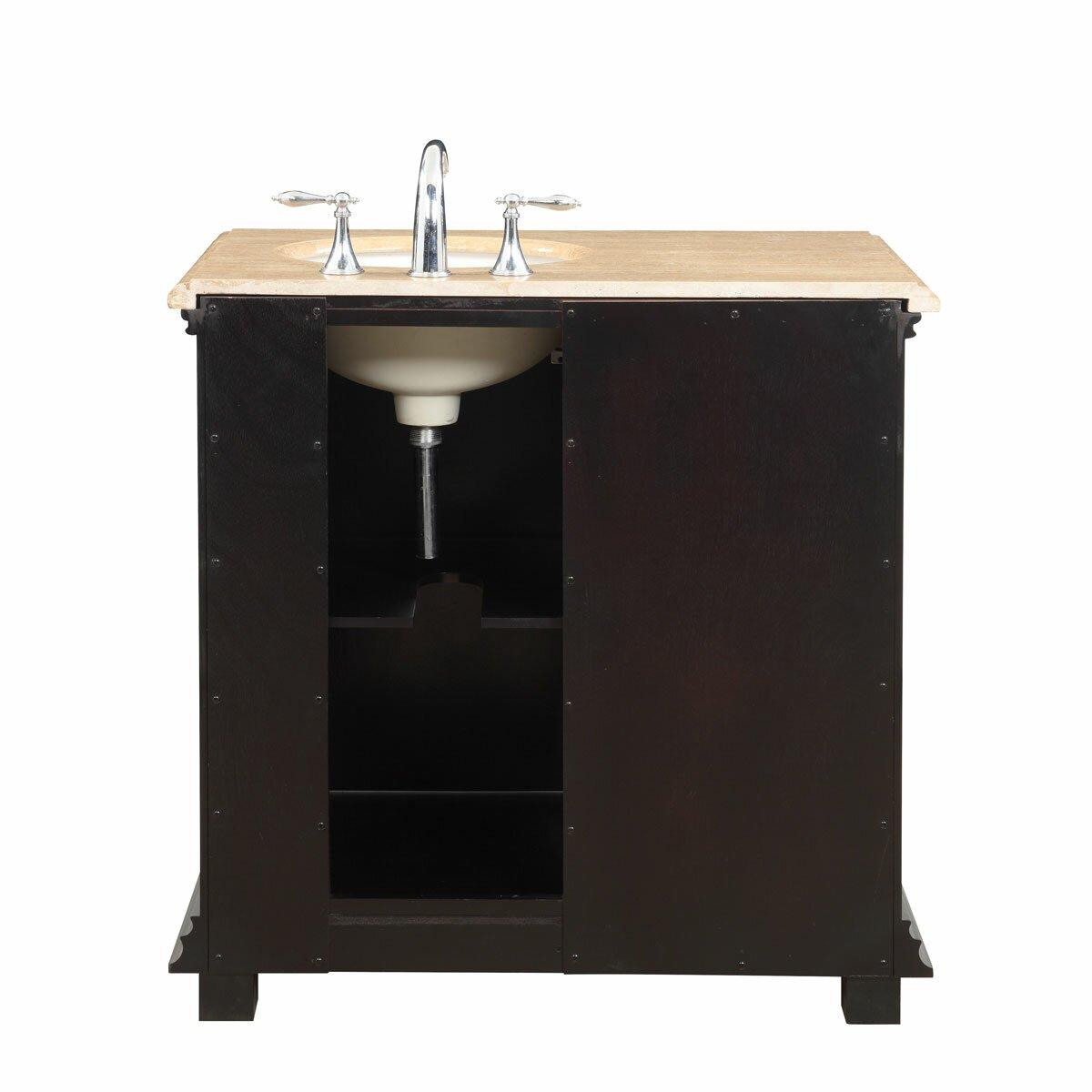 """Silkroad Exclusive 36"""" Single Bathroom Vanity Set With"""