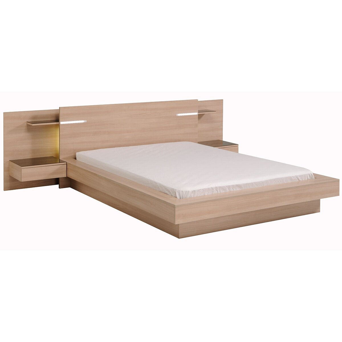 Parisot life queen platform bed for Average lifespan of a mattress