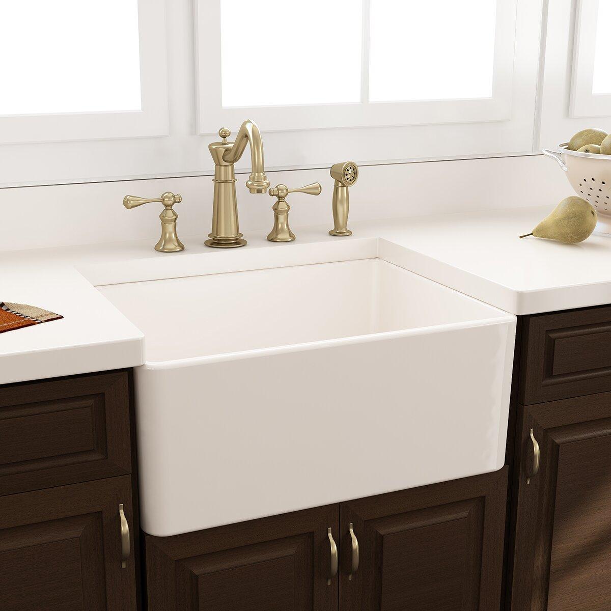cape 24 x 18 kitchen sink with grid - Apron Kitchen Sinks