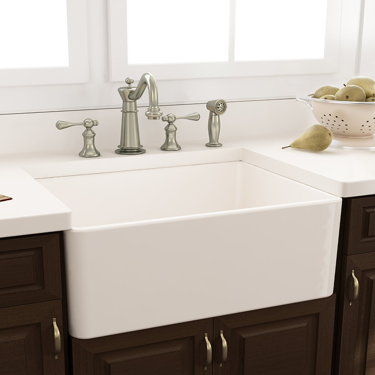 nantucket sinks cape x 18 kitchen sink with grid and drain reviews wayfair. Black Bedroom Furniture Sets. Home Design Ideas