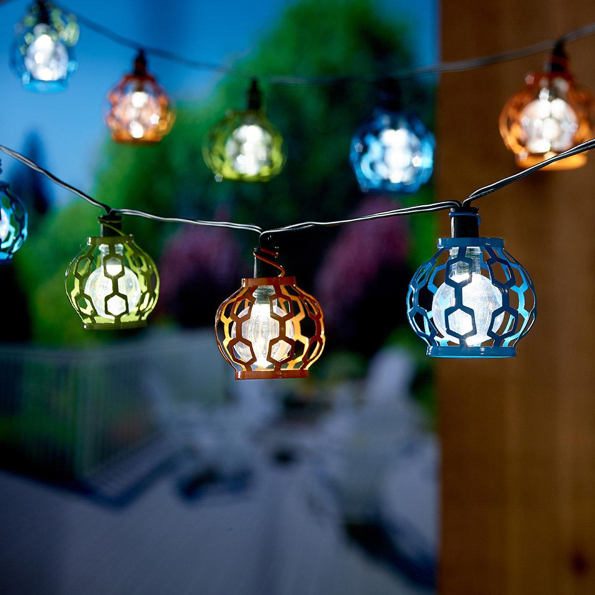 Smart Solar Solar 20-Light 5.5 ft. Globe String Lights ...