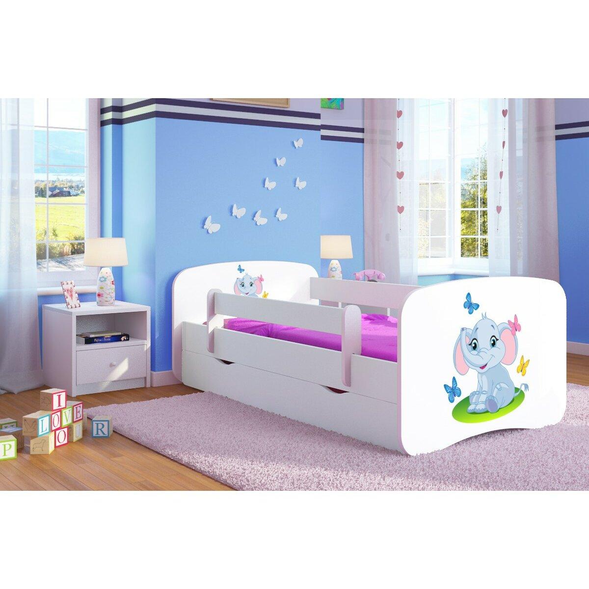 kocot kids kinderbett elephant mit matratze und schublade. Black Bedroom Furniture Sets. Home Design Ideas