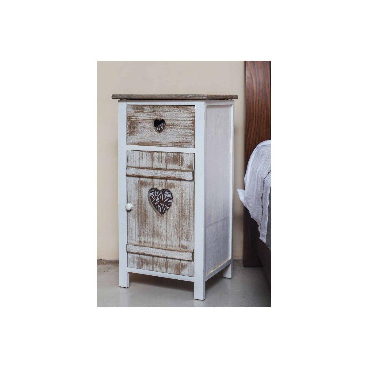 home loft concept nachttisch hannah mit schublade bewertungen. Black Bedroom Furniture Sets. Home Design Ideas