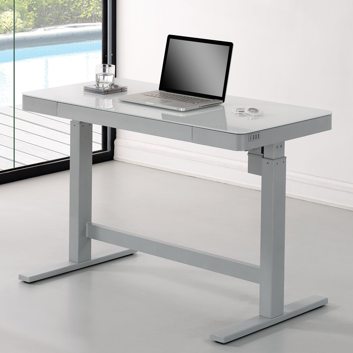 Wildon home adjustable standing desk reviews wayfair for Standing desk at home