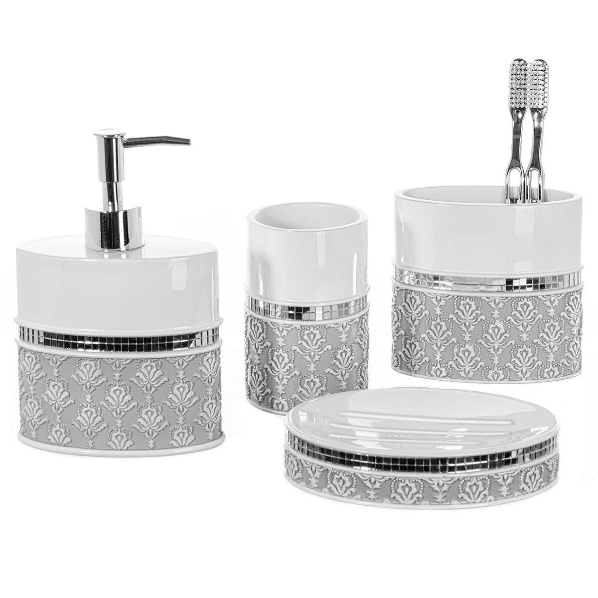 Creative scents 4 piece bathroom accessory set for Bathroom 4 piece set