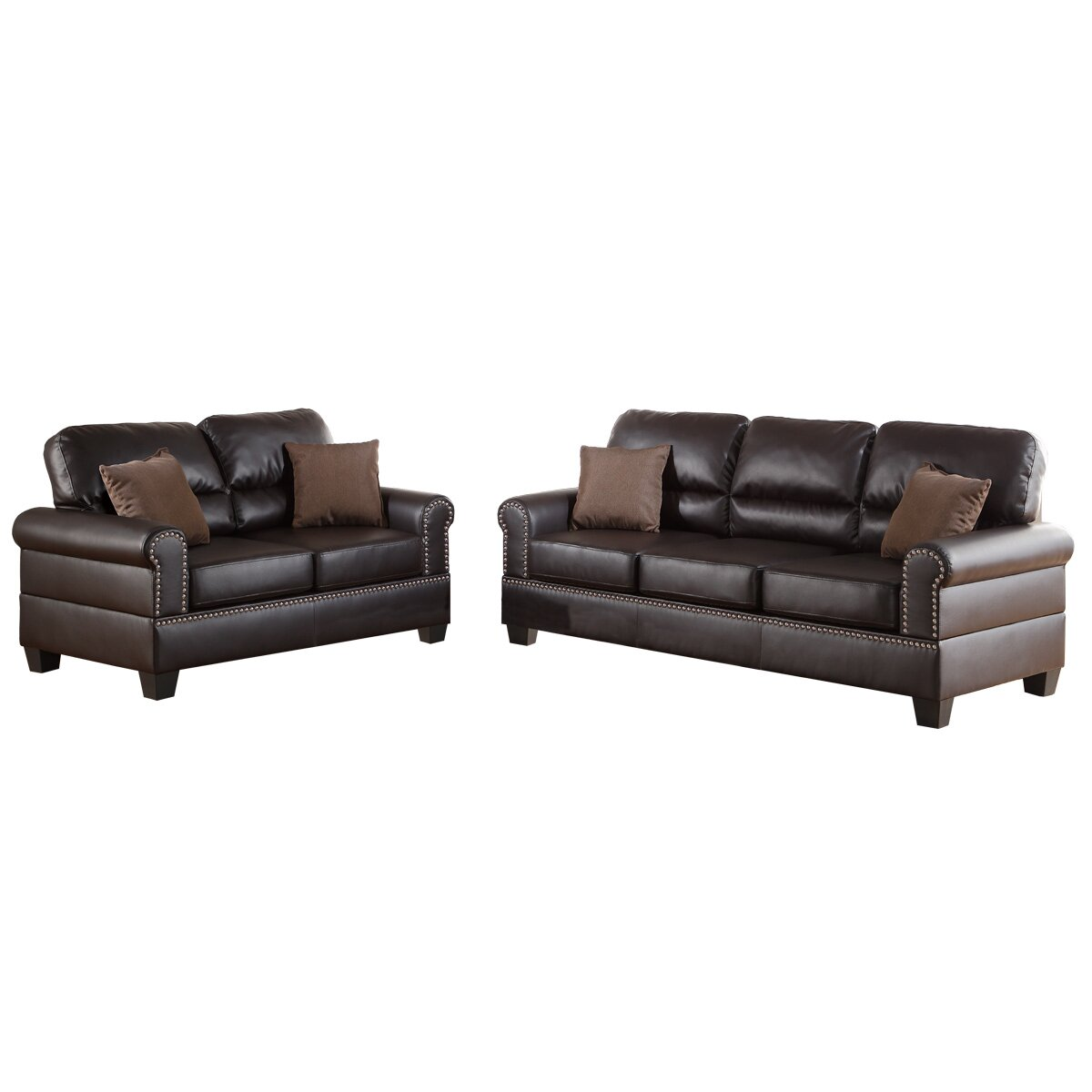 Charlton home boyster 2 piece sofa and loveseat set for 2 piece furniture set