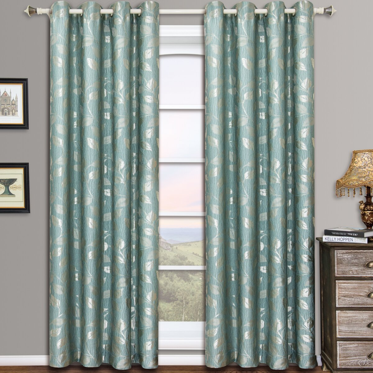 Alcott Hill Schaumburg Toile Blackout Grommet Curtain