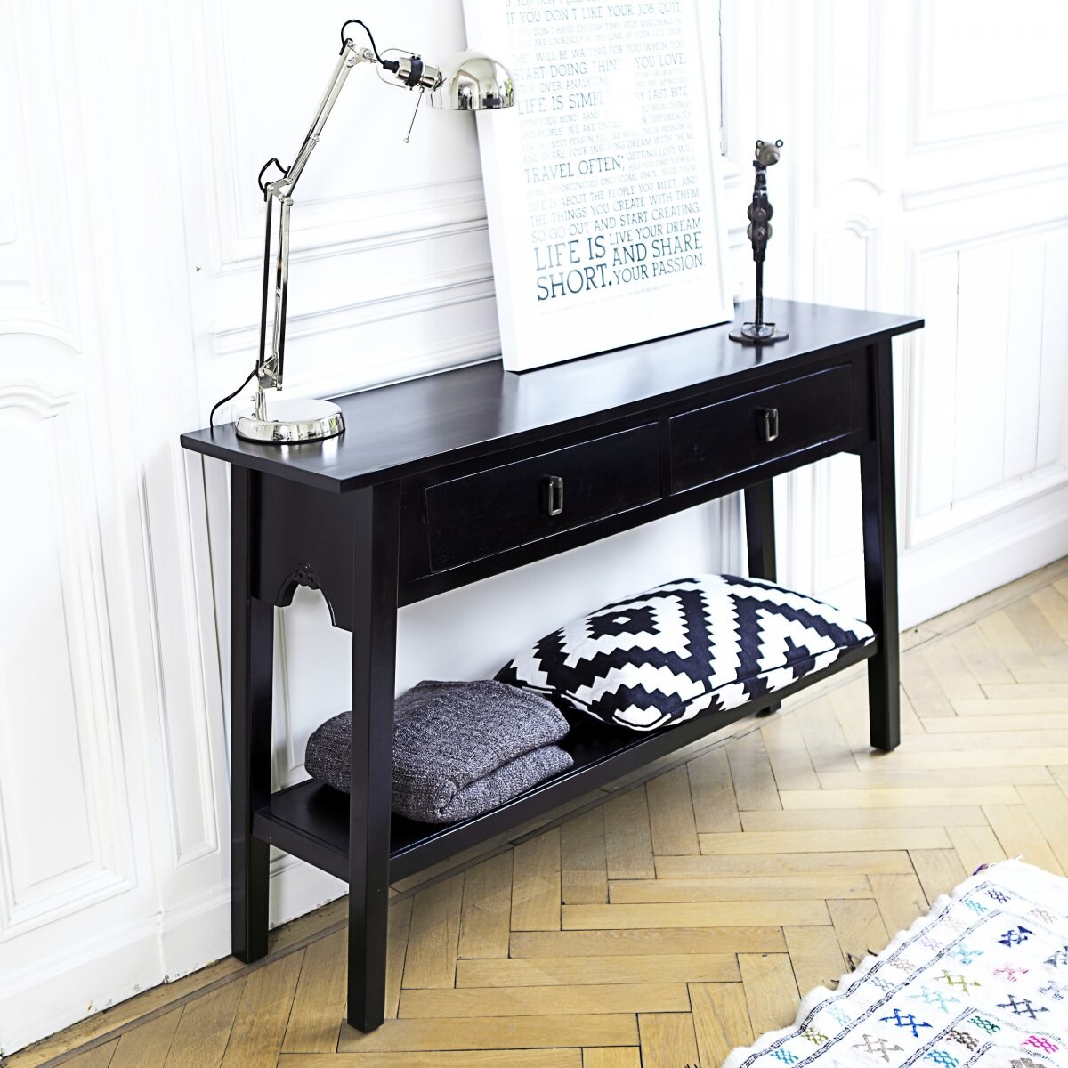 Tikamoon thaki console table reviews - Table console extensible noir ...