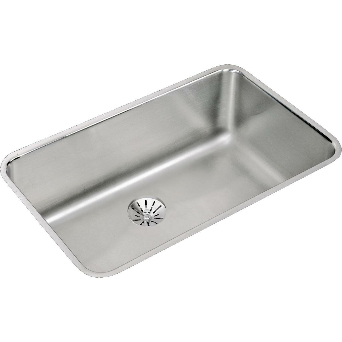 lustertone 305 x 185 undermount single bowl kitchen sink with perfect drain - White Single Basin Kitchen Sink