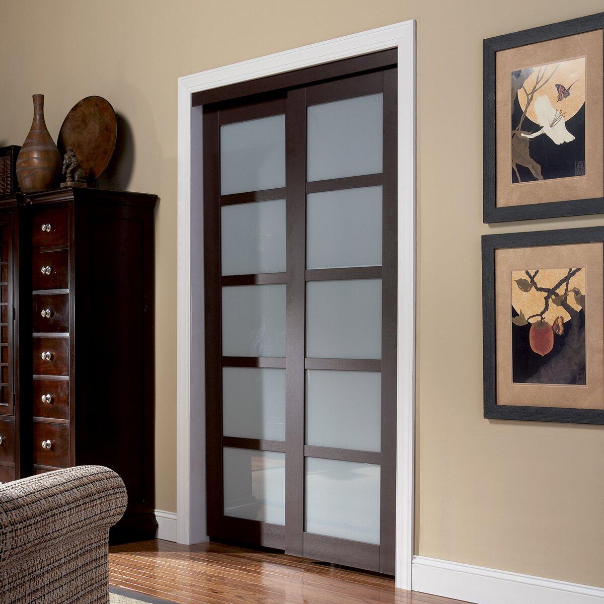 erias home designs baldarassario 2 panel painted sliding interior door