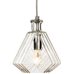 Decanter 1-Light Jar Pendant by Firstlight