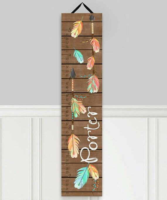 Toad And Lily Arrow Personalized Growth Chart Wayfair