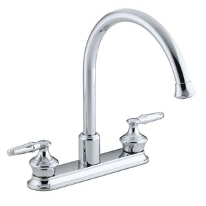 Coralais Three-Hole Kitchen Sink Faucet with 9