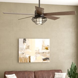 52 Charo Damp Location 5 Blade Ceiling Fan With Remote Light Kit Included