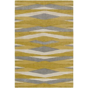 Melitta Hand-Tufted Wheat/Mustard Area Rug