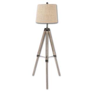 Dark wood tripod floor lamp wayfair 63 tripod floor lamp aloadofball Image collections