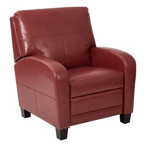 Red Leather Reclining Chair small recliners you'll love | wayfair