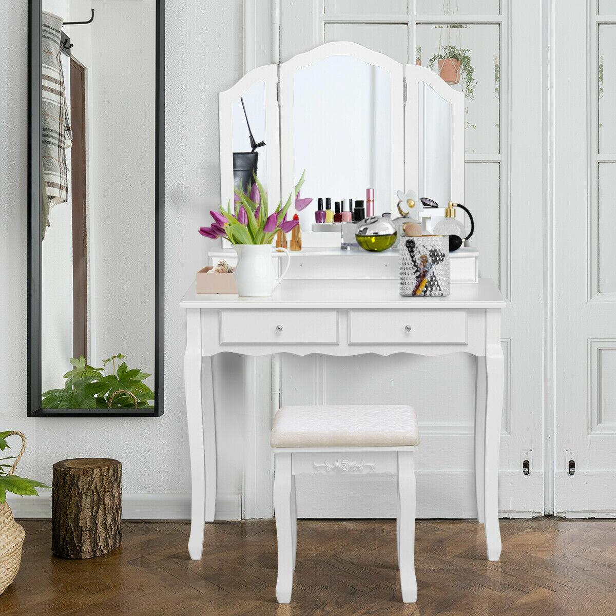 konieczny makeup vanity set with mirror