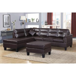 Superior Adalwen Sectional Sofa With Ottoman