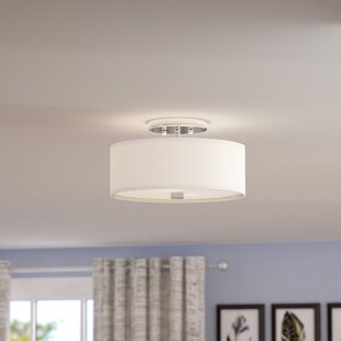 Flush mount lighting youll love wayfair bennet 2 light semi flush mount aloadofball