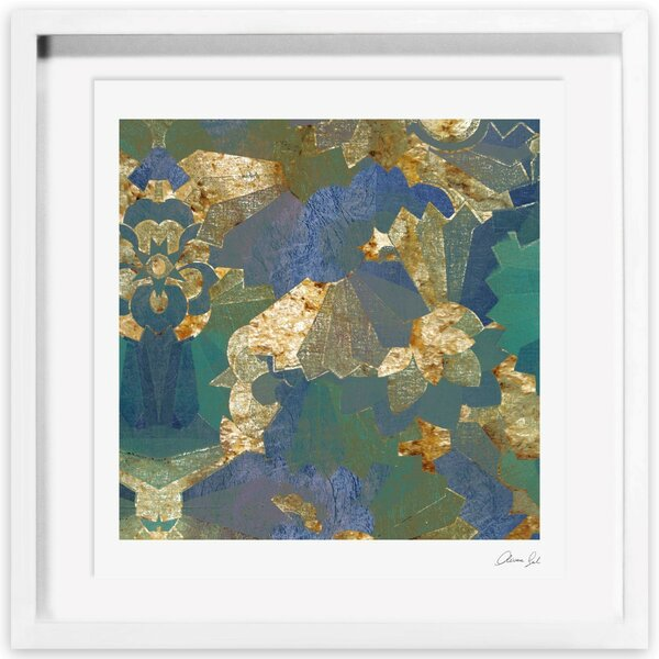 Turquoise Deco Framed Painting Print Allmodern